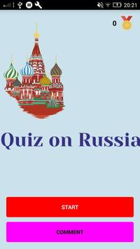 Facts about Russia - check your knowledge poster