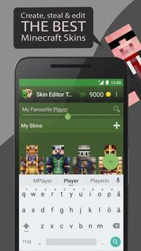 Skin Editor Tool for Minecraft 海报