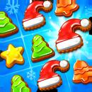 Galletas navideñas: combinar 3 de Santa Claus APK