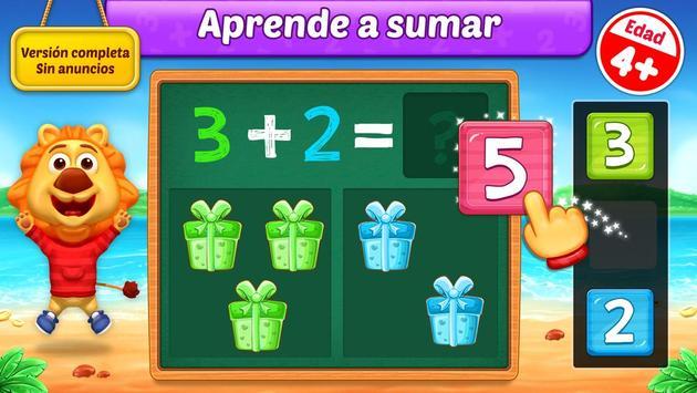 Juegos de matemáticas para niños: sumas y restas Poster