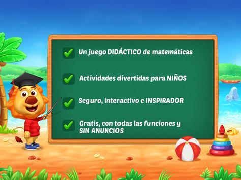 Juegos de matemáticas para niños: sumas y restas captura de pantalla 19