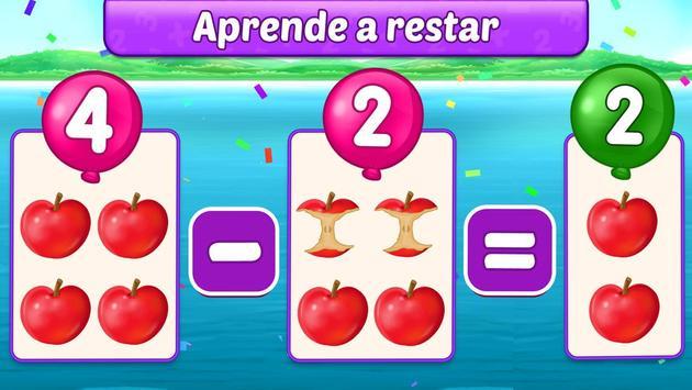 Juegos de matemáticas para niños: sumas y restas captura de pantalla 1