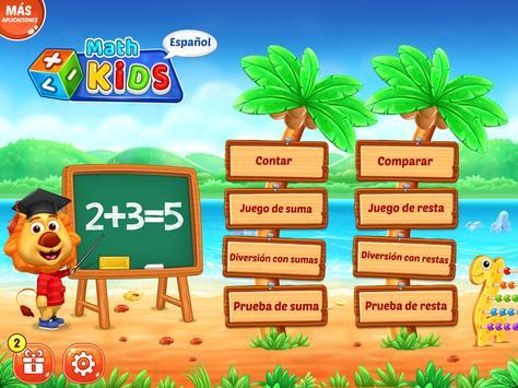 Juegos de matemáticas para niños: sumas y restas captura de pantalla 20
