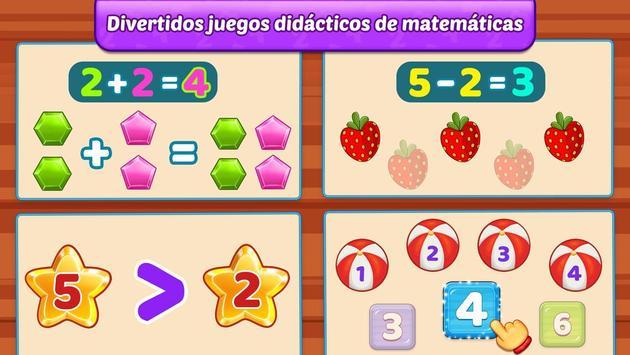 Juegos de matemáticas para niños: sumas y restas captura de pantalla 4