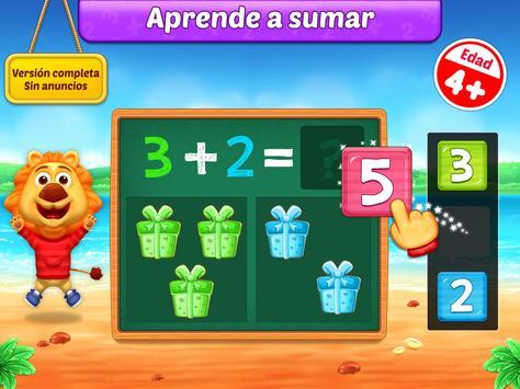 Juegos de matemáticas para niños: sumas y restas captura de pantalla 7