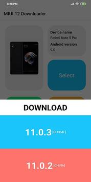 MIUI 12 Downloader captura de pantalla 3
