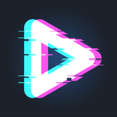 Años 90 - Glitch & Vaporwave Video Effects Editor icono
