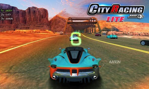 City Racing Lite captura de pantalla 8