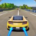 Racing In Car City Traffic