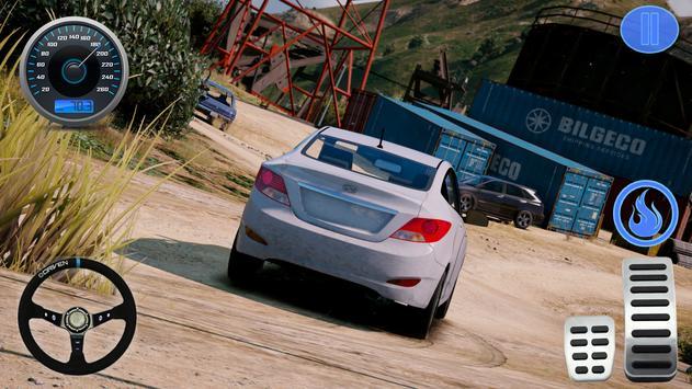 Race Car Games - Simulator Games Hyundai Accent poster