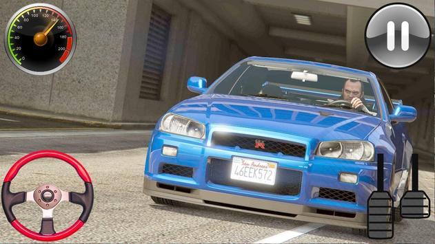 Driver Nissan Skyline GT-R - Car Racing 2019 screenshot 3