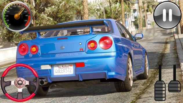 Driver Nissan Skyline GT-R - Car Racing 2019 screenshot 5