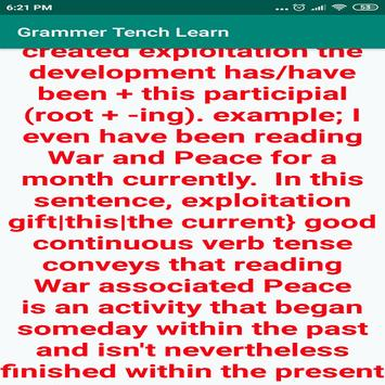 Grammer Tench Learn poster