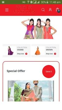World Fashion BD.Online shopping indian collection poster