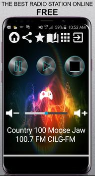Country 100 Moose poster