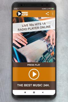 Live 90s Hits 1A  Radio Player online poster