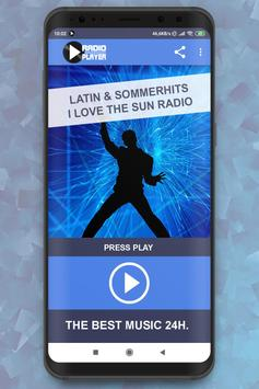 Live Latin & Sommerhits – I love the Sun Radio poster