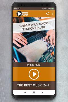 Live 1390 AM WRIV Radio Station Player online poster