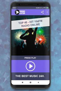 Top 40 – Hit 104 FM Online Player online для Андроид