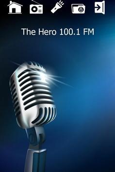 100.1 FM The Hero Radio poster