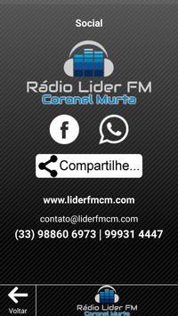 Rádio Líder Coronel Murta screenshot 3