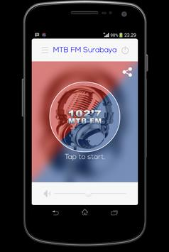 102,7 Radio MTB FM Surabaya poster