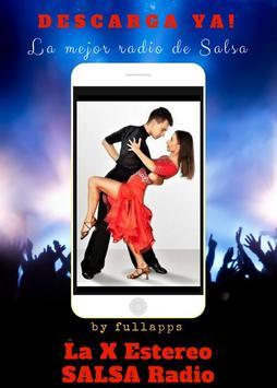 La X Estereo SALSA Radio free ONLINE APP poster