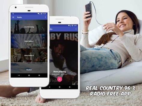 Real Country 96.3 Radio Free App Online screenshot 1
