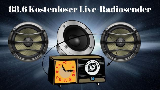 88.6 Free live radio station screenshot 2
