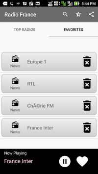 Radios France FM Online capture d'écran 2