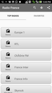 Radios France FM Online capture d'écran 3