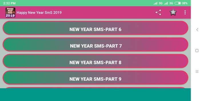 Happy New Year SmS-2019 screenshot 4