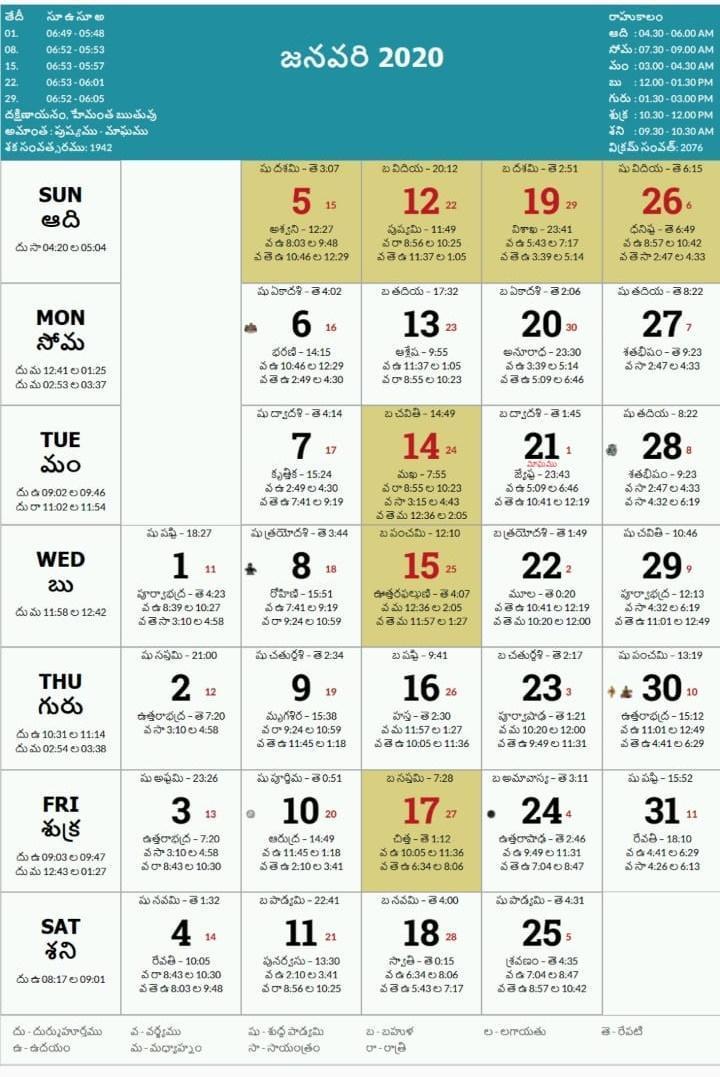 Telugu Calendar Panchang 2020 for Android - APK Download
