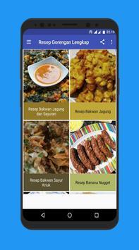 Complete fried recipes screenshot 1