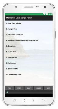 Memories Love Songs Part 1 screenshot 1