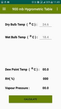 Dew Point Humidity Calculator screenshot 2