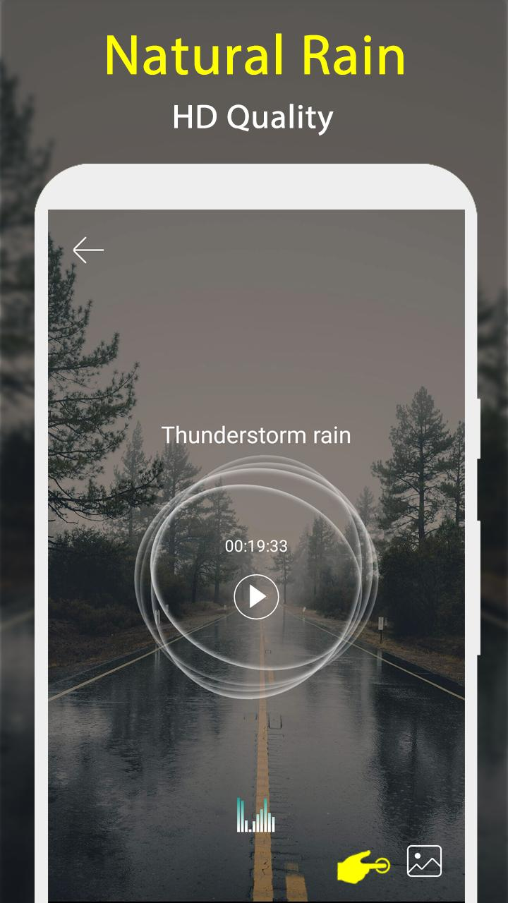 Natural Rain sound & Thunder Music - Sleep & Relax for Android - APK