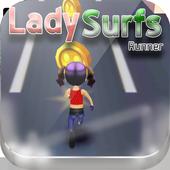Railway Lady Super Runner Adventure 3D Game icon