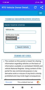 How to Check Vehicle Owner Detail On Mobile screenshot 4