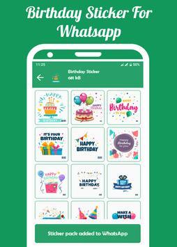 Birthday Sticker For WhatsApp(WASticker) screenshot 2