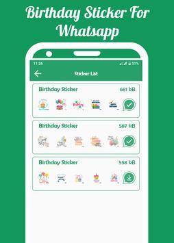 Birthday Sticker For WhatsApp(WASticker) screenshot 4