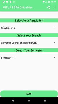 JNTUK GPA CALCULATOR R16 screenshot 2