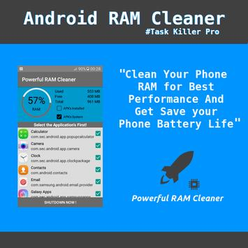 Powerful RAM Cleaner poster
