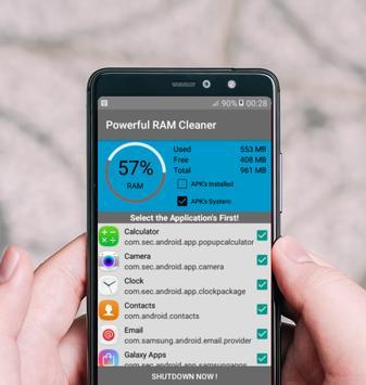 Powerful RAM Cleaner screenshot 1