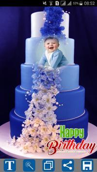 Happy Birthday Cake Frames الملصق