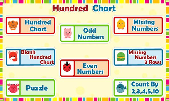 Kids Counting Hundred Chart poster