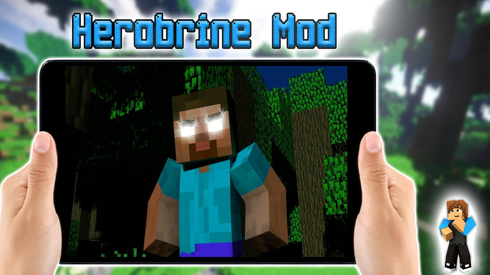 Minecraft Roblox Herobrine Herobrine Mod For Minecraft Pocket Edition For Android Apk Download
