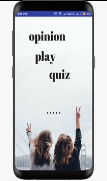 opinion play quiz poster