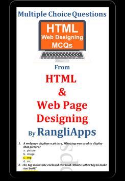 HTML Webpage Designing Solved MCQs screenshot 4