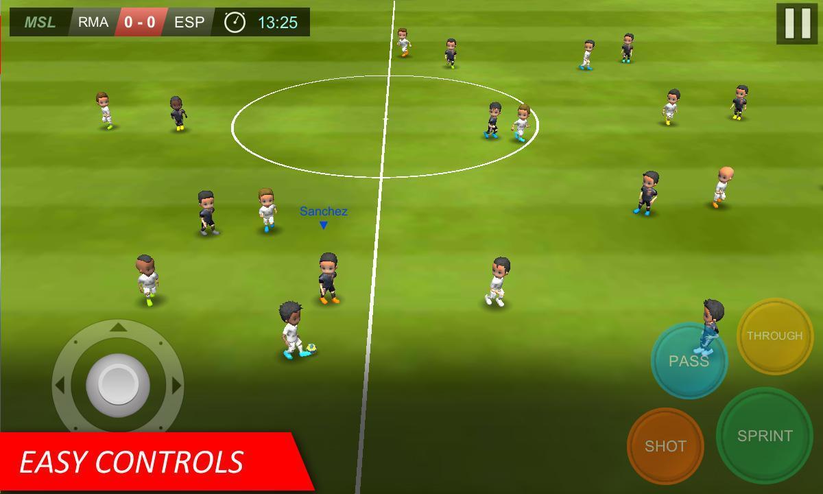 Download semua permainan gratis Mobile Soccer League